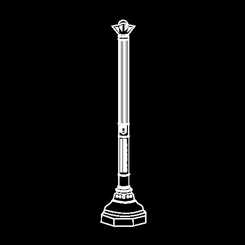 Candélabres classiques - Fontes de Paris