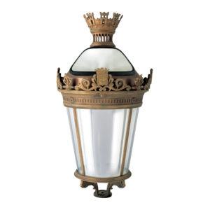 Fontes de Paris - Luminaires classiques - Hôtel de Ville - Porté version cuivre - Option projecteur