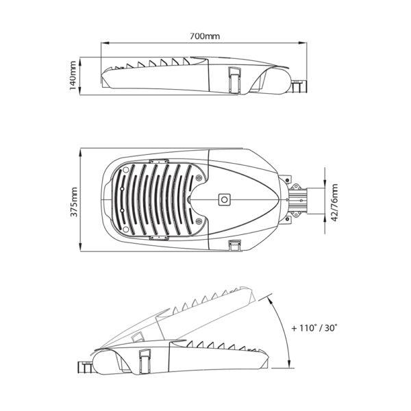 Fontes de Paris - Luminaires fonctionnels - Headled - CAD