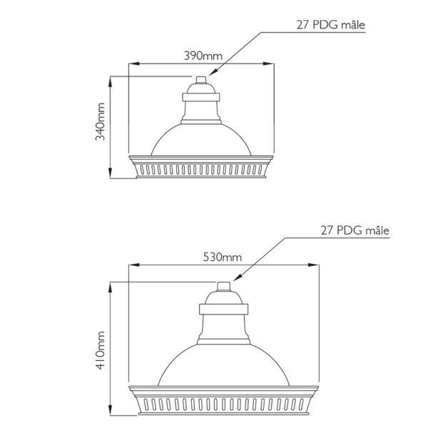 Fontes de Paris - Luminaires rétros - Arches - CAD