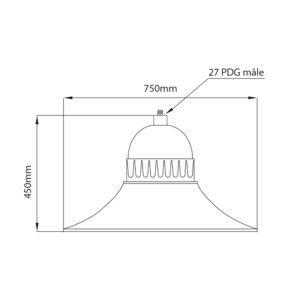 Fontes de Paris - Luminaires rétros - Bell - CAD