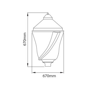 Fontes de Paris - Luminaires rétros - Edera - CAD