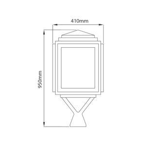 Fontes de Paris - Luminaires rétros - Halles - CAD